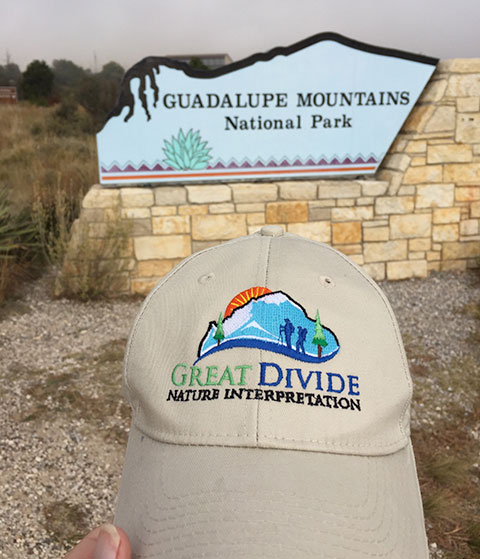 great divide baseball hat at Guadalupe Mountains National Park
