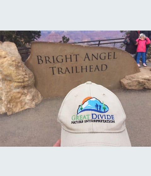 great divide baseball hat at Bright Angel trailhead