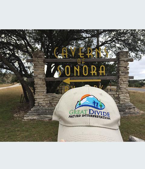 great divide baseball hat at Caverns of Sonora