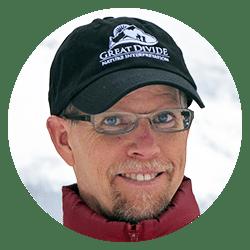 guide Joel Hagen wearing Great Divide baseball hat