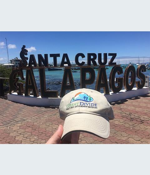 Great Divide baseball hat at Santa Cruz, Galapagos