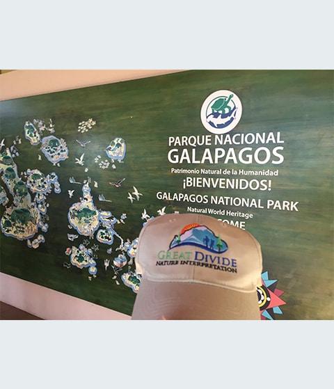 Great Divide baseball hat at Galapagos National Park