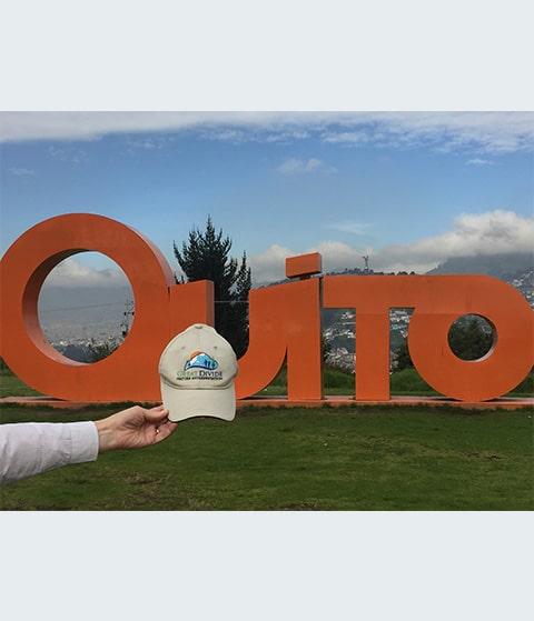 Great Divide baseball hat at Quito