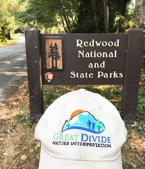Great Divide baseball hat at Redwood National Park