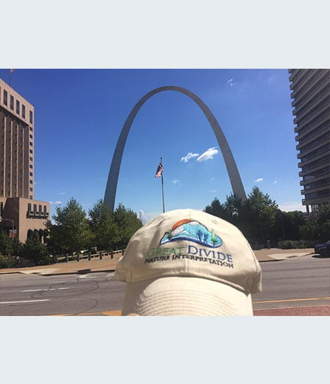 Great Divide baseball hat at St Louise arch