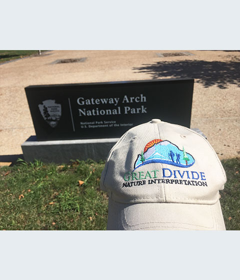 Great Divide baseball hat at Gateway Arch National Park