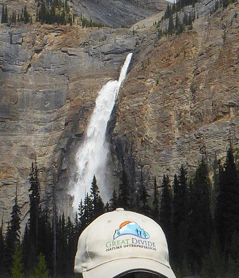 great divide baseball hat and Takakkaw Falls